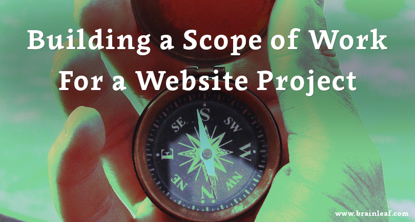 Scope of work (SOW) for a website project