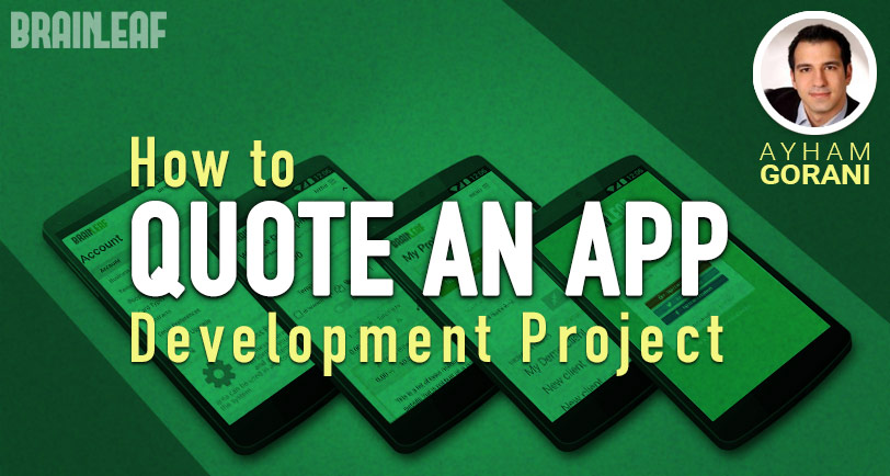 quote an app development project